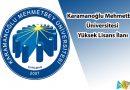 Karamanoğlu Mehmetbey Üniversitesi yüksek lisans ilanı