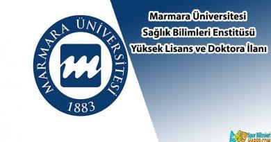 Marmara Üniversitesi yüksek lisans ve doktora ilanı