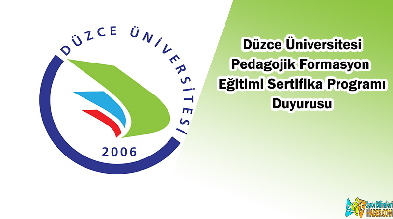 Pedagojik Formasyon Eğitimi Sertifika Programı