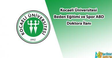 kocaeli üniversitesi doktora ilanı