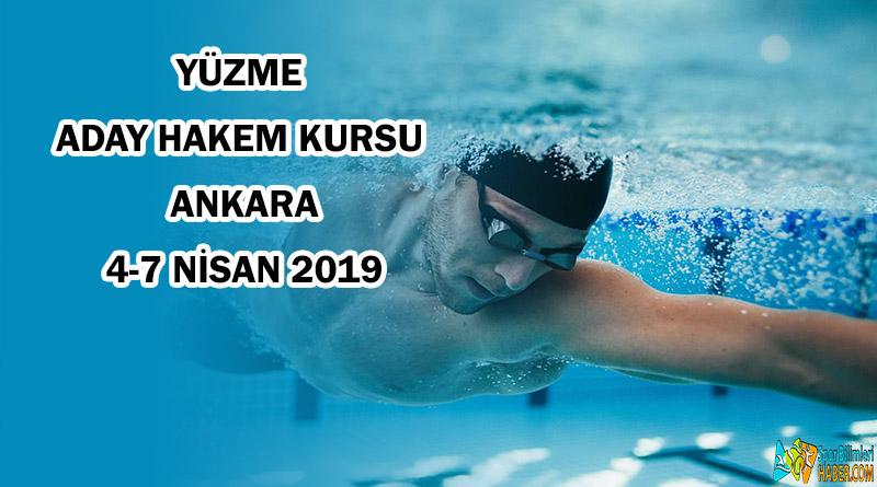 Ankara ilinde Yüzme Aday Hakem Kursu Açılacaktır!