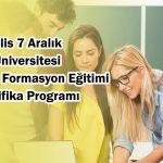 Pedagojik Formasyon Eğitimi