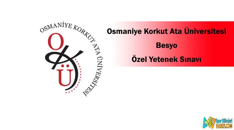 osmaniye korkut ata üniversitesi besyo